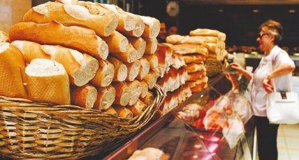La venta de pan en los supermercados bajó un 3,4%